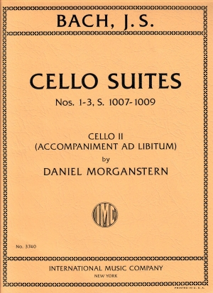 Bach Cello Suites Nos. 1-3 S. 1007-1009 with Cello II accompaniment ad libitum