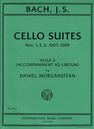 Bach Cello Suites Nos. 1-3 S. 1007-1009 with Viola II accompaniment ad libitum