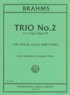 Brahms Trio No. 2 in C Major, Opus 87