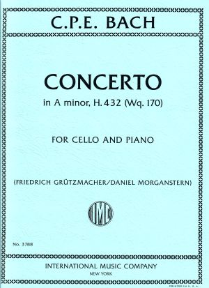C.P.E. Bach Concerto in A minor, H. 432 (Wq. 170) for Cello and Piano